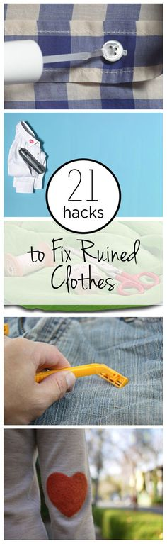 21 Hacks to Fix Ruined Clothes: