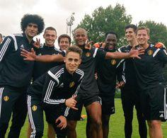 The winners of today's training session: Vince, Marouane, Thomas, Eden, Romelu, Jan, Adnan & Thibaut! #belbos pic.twitter.com/DSvEThv4lw