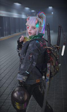 Moda Cyberpunk, Arte Cyberpunk, Cyberpunk Girl, Cyberpunk Aesthetic, Cyberpunk Fashion, Cyberpunk 2077, Fantasy Character Design, Character Concept, Character Inspiration
