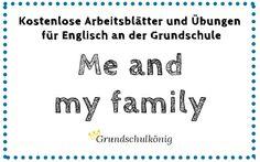 """Kostenlose Arbeitsblätter für Englisch an der Grundschule zum Thema """"Me and my Family"""" #grundschulkönig #englisch #Grundschule"""