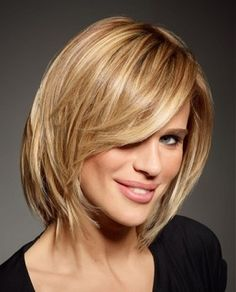 MEDIUM LENGTH DARK BLONDE HAIRSTYLES | sexy messy medium bob hairstyle this medium length blonde hair works ...