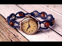 Simple Macrame Watch Band with Beads - Macramé Tutorial [DIY] - YouTube