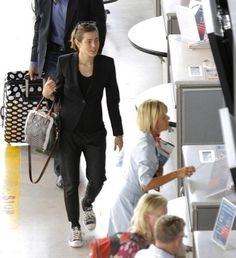 Flying in Style-- and Comfort!  Charlotte Casiraghi
