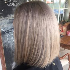Organic minerals used to develop clean colour technology. Reducing stress and the toxic, chemical overload on your hair. STUNNING blonde 'lob' (long bob)