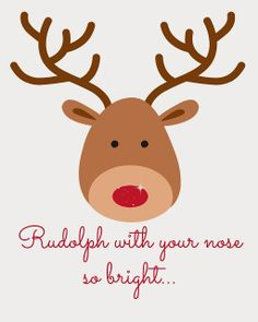 Rudolph the Red Nose Reindeer!! on Pinterest | Reindeer Noses ...
