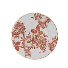 Fancy Home Decor Items Every Adult Should Own: Oscar De La Renta Coralina Collection White and Orange Plate   coveteur.com