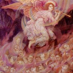 Angel Piping to the Souls in Hell, 1916 - Evelyn De Morgan