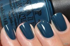 Back to my re-swatch marathon :) These are just some random OPIs! OPI Ski Teal We Drop - The only polish I picked up from the Swiss collec...