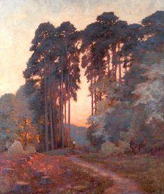 The Athenaeum - Woodland Scene with Lone Figure (William Herbert Allen - )
