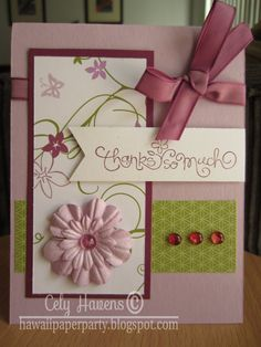 Handmade Greeting Card Thank You Butterflies by HawaiiPaperParty, $6.00