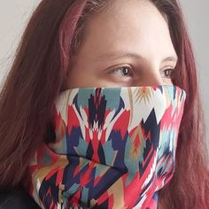 Shelly wearing one of our new GAITER MASKS  NECK GAITER MASKS  Combining the comfort and fit of a traditional neck gaiter, these 4 Layer GAITER MASKS are available in a variety of colours and patterns.  Made from a double layer of Poly Cotton sandwiched between two layers of Cotton Lycra.  These stylish GAITER MASKS are comfortable enough to wear all day and durable enough to be washed every day.  Orders and enquiries: gaiter.masks@gmail.com Masks, Layers, Colours, Traditional, Patterns, Stylish, Fit, Cotton, How To Wear