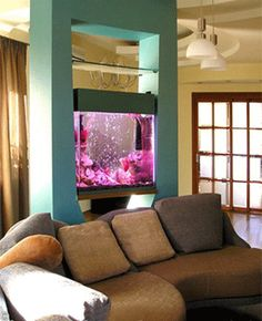 Partitions and dividers, modern interior design ideas, tropical fish tanks and aquarium decoration