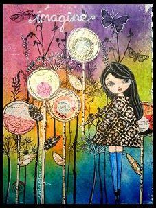 gorgeous art journal page from Miranda Schmitz