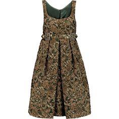 Dolce & Gabbana Embellished metallic jacquard mini dress (22.810.195 IDR) ❤ liked on Polyvore featuring dresses, gold, dolce gabbana dresses, fitted cocktail dresses, fitted dresses, short dresses and pleated mini dress
