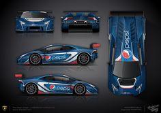 Wrap design concept #5 Pepsi Artcar LAMBORGHINI HURACAN GT3 Sports Cars Lamborghini, Lamborghini Huracan, Sport Cars, Race Cars, Diorama, Paper Model Car, Racing Car Design, Car Drawings, Small Cars