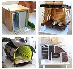 "Design With Reach's Boulder Studio recently presented a ""Barkitecture"" challenge to a group of architects in the area. The challenge was to create a doghouse with dimensions not exceeding 3 cubic feet, that was under $1000 and used at least some ""green"""