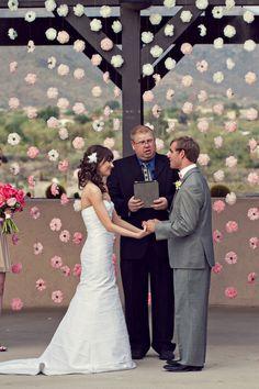 Such a pretty ceremony backdrop!