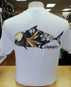 "HIC Mens White ""Ulua Manoa"" T-Shirt"