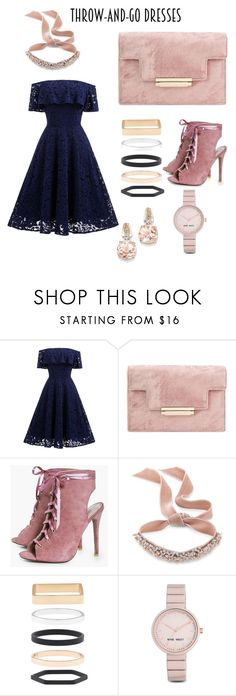 """#throwandgodress#contest#women#fashion#outfit"" by nourhan-gamal ❤ liked on Polyvore featuring Boohoo, Fallon, Accessorize, Nine West and BillyTheTree"