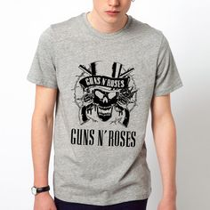 Guns And Roses T Shirts Men Leisure O Neck Man Shirt Short Sleeve Cotton Mens Tees Euro Size Tops Free Shipping-in T-Shirts from Men's Clothing & Accessories on Aliexpress.com | Alibaba Group