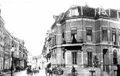 Hoek Keizerstraat/Korte Bisschopstraat datum onbekend.