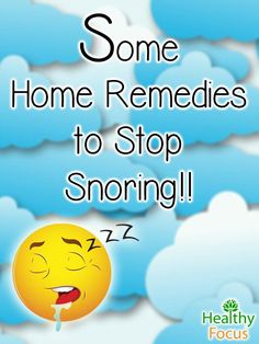 Home remedies for snoring include essential oils, losing weight, no alcohol… Home Remedies For Snoring, Sleep Apnea Remedies, How To Stop Snoring, Natural Home Remedies, Holistic Remedies, Herbal Remedies, Health Remedies, Cold Remedies, Fungi