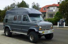 Gen 3 Ford Econoline Conversions and Quadravans Rv Truck, Truck Camping, 4x4 Trucks, Diesel Trucks, Ford Trucks, Chevrolet Trucks, Chevrolet Impala, Lifted Trucks, Class B Camper Van