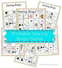 Sewing Bingo Board ... by Patchwork Posse | Sewing Pattern - Looking for your next project? You're going to love Sewing Bingo Board Game Printable by designer Patchwork Posse. - via @Craftsy