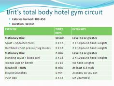 hotel gym circuit