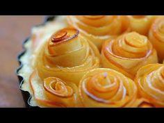 Rose apple tart recipe - mother's day - YouTube