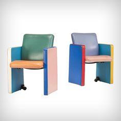 Paire de fauteuils pour Poltrona Frau (1987), Tito Agneli