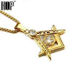 Gold Plated Freemasonry Masonic Pendant