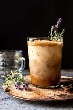 Iced Brown Sugar Latte with Shaken Espresso   halfbakedharvest.com Yummy Drinks, Yummy Food, Tasty, Brown Sugar Syrup, Salted Pretzel, Nutella Fudge, Iced Latte, Iced Coffee, Iced Vanilla Latte Recipe