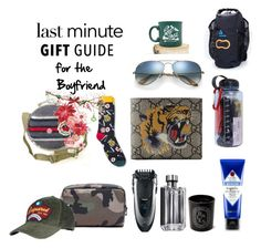 """""""Last Minute Gift Guide"""" by itgirl2010 ❤ liked on Polyvore featuring Jack Black, Valentino, Braun, Prada, Diptyque, Ray-Ban, Dsquared2, Gucci, Mossimo Supply Co. and Aquapac"""