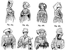 15th Century Sugarloaf Hats   http://pages.infinit.net/folken/medieval/images/15siecletete.gif