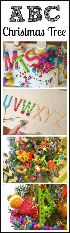 ABC Christmas Tree - Holiday Learning Activity + Craft Project