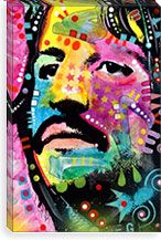 Ringo Starr By Dean Russo Canvas Print #13530