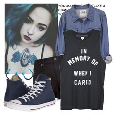"""Blue"" by natsuko-yuuki ❤ liked on Polyvore featuring rag & bone and Converse"