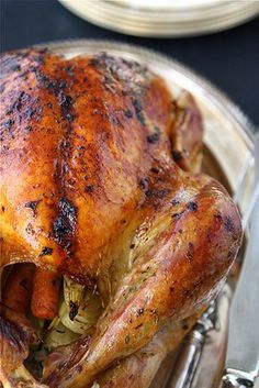 This has become our go-to recipe, one that gives us perfect results every time. What makes it so magical? Well, it starts with the butter mixture, packed full of fresh sage, thyme and parsley, that is smeared under the skin and over the surface of the turkey. What really pushes this recipe over the top, however, are the rich, dark brown drippings that come from a mixture of the turkey juices and the shallots roasting in the bottom of the pan. Basting with these juices helps to produce…