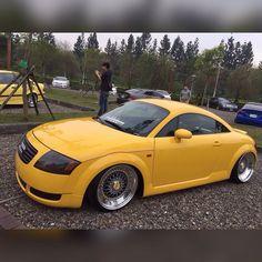 Repost via Instagram: My car yellow TT BBS RS #audi#auditt#Quattro#yellow# #bbsrs#freedom#stance#tainan# #taiwan#airrex# by allen2138