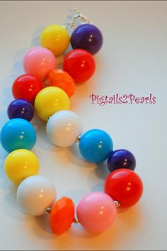 One of a kind hand made jewelry - find us on Facebook at Pigtails2Pearls!
