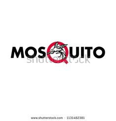 """Mascot icon illustration of an angry mosquito flying viewed from side set inside letter """"Q"""" of the word or text """"mosquito"""" on isolated background in retro style. Anti Mosquito, Retro Illustration, Retro Style, Icon Design, Bugs, Insects, Royalty Free Stock Photos, Lettering, Words"""