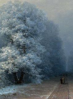 art-is-art-is-art:  Winter landscape, Ivan Aivazovsky