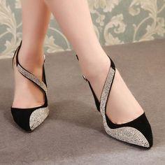 "2015 Western Design  Stiletto Rainstone 11cm High Heel ""Elegant Series"" Shoes #womenshoes #shoes #womenfashion  http://hisandherfashion.com/collections/women-shoes/products/2014-western-design-stiletto-rainstone-high-heel-11cm-beige-black-color-dress-shoes"