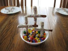 I've been so busy sharing our Easter crafts this week, I thought maybe it was time to mention a few of the snacks we've enjoyed along with...