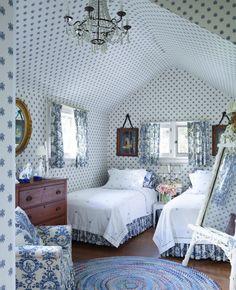 Home Decor Habitacion .Home Decor Habitacion Blue Rooms, White Bedroom, Blue Walls, Cottage Interiors, Guest Bedrooms, Small Bedrooms, White Decor, Beautiful Bedrooms, Elle Decor