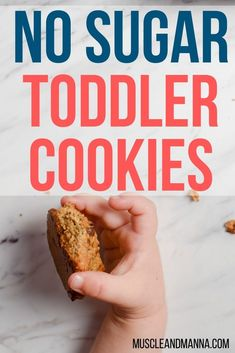 These oatmeal toddler cookies make a perfect snack for kids and even babies! Healthy Dessert Recipes, Healthy Baking, Baby Food Recipes, Snack Recipes, Family Recipes, Baking Recipes, Breakfast Recipes, Healthy Toddler Meals, Toddler Snacks