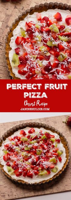 Looking for the perfect pizza recipe for spring and summer time get togethers? Then, you must check out and try my perfect fruit pizza recipe here. Winter Desserts, Desserts For A Crowd, Great Desserts, Delicious Desserts, Dessert Recipes, Baking Desserts, Homemade Desserts, Party Desserts, Party Recipes