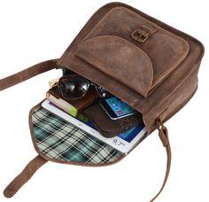 Die Handtasche 'Lydia' aus Büffelleder überzeugt in ihrem klassischen und zeitlosen Design, dass sie auch noch in 50 Jahren zu einem attraktivem Begleiter machen wird. Gusti Leder - 2H7-17-1