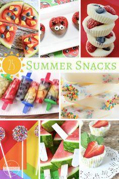 25 Summer Snacks Kids will LOVE - so many yummy summer recipes kids will love. 25 Summer Snacks Kids will LOVE - so many yummy summer recipes kids will love. Summer Kids Snacks, Healthy Summer Snacks, Nutritious Snacks, Summer Activities For Kids, Snacks Kids, Yummy Snacks, Summer Fun, Kids Meals, Summer Time